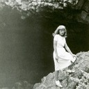 Norma at Subway Cave, Mt. Lassen National Park.