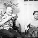 "Norma with Frank Herbert in Kenwood, probably during interview for ""Saucer Expert"" article"